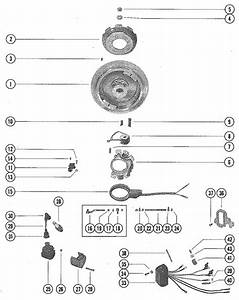 Mercury Marine Model 200  20 Hp Flywheel  Ignition Coil  U0026 Switch Box Parts