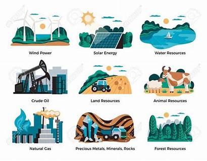 Resources Natural Environmental Energy Symbols Risorse Delle