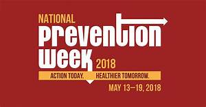National Prevention Week by SAMHSA