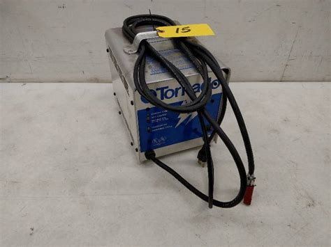 Tornado Floor Scrubber Battery Charger by Janitorial Equipment In Elko Minnesota By Jms Auctions