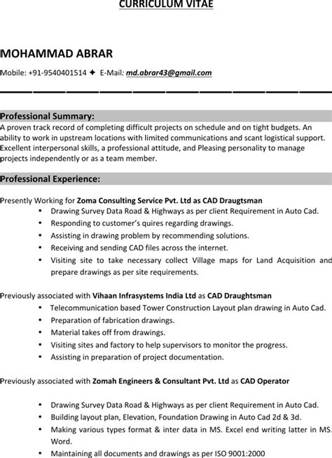 mechanical drafter resume for free page 2