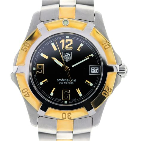 Tag Heuer Two Tone 2000 Quartz Professional Wn1154 Wristwatch