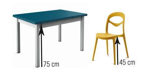 table cuisine largeur quelle hauteur de chaises et tabourets choisir en fonction