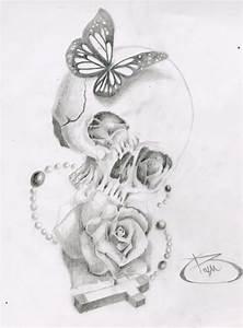 Skull, Butterfly, Rose, Cross by BryanChalas.deviantart ...