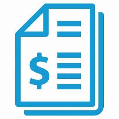 Financial Clipart Invoice Report Icon Statement Income