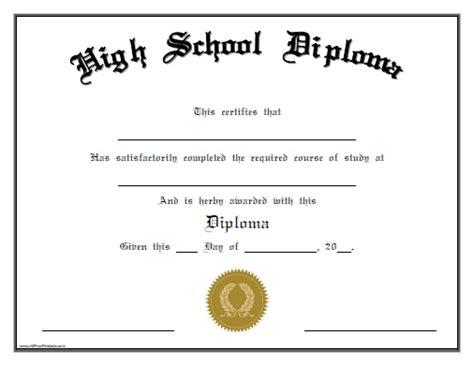 high school diploma templates