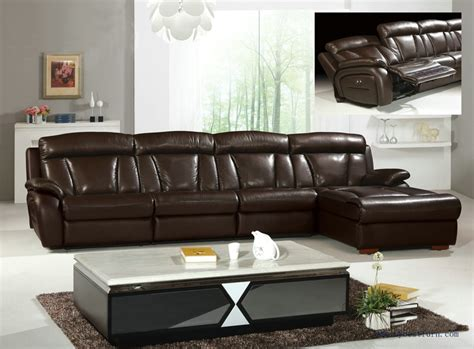 l shaped recliner sofa grand brown genuine leather large l shaped recliner sofa