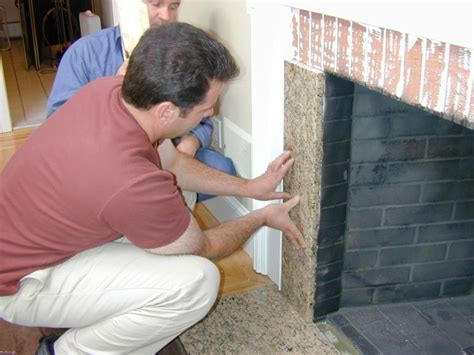 fireplace reface reface a fireplace with veneer how tos diy