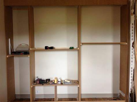 affordable ravishingly construire tagre bois diy un mur de placards la clamartoise fabriquer