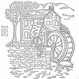 Embroidery Patterns Mill Pattern Coloring Transfer Printable French Watermill Flickr Stitch Modern Crewel Windmill Knots Transfers Adult Knot Cross Via sketch template