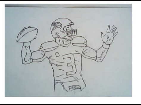 drawn football super bowl pencil   color drawn