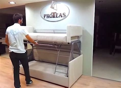 Tiny House Furniture Sofa To Bunk  Ee  Bed Ee   Seconds