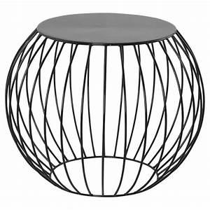 Table D Appoint Metal : table d 39 appoint boule en m tal noir ~ Teatrodelosmanantiales.com Idées de Décoration
