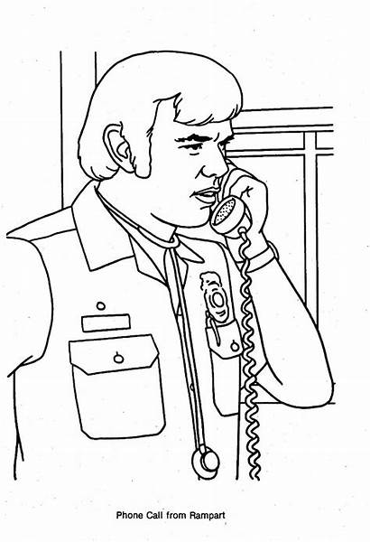 Coloring Tv Pages Emergency Television Getcolorings Printable