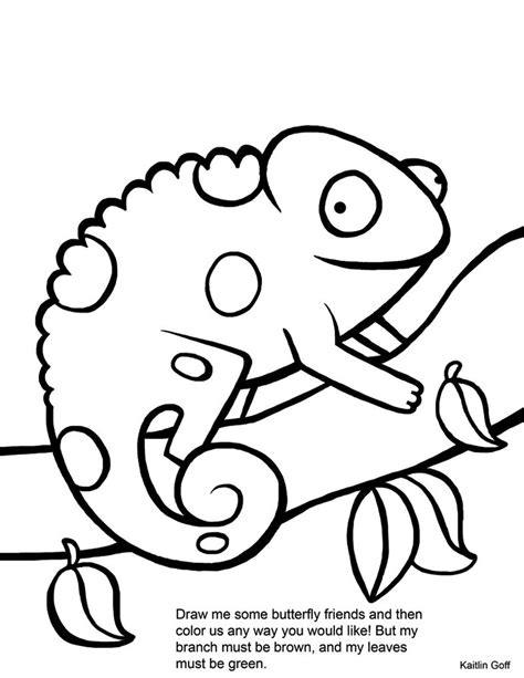 Mixed Up Chameleon Coloring Page by Mixed Up Chameleon Coloring Page Coloring Home