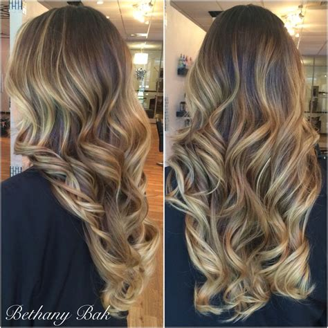 blonde balayage  brown hair perfect summer color
