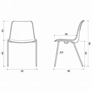 Dimension Chaise Standard : chaise de collectivit empilable hawai chaise de collectivit empilable type coque spark office ~ Melissatoandfro.com Idées de Décoration
