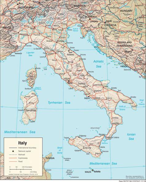 Ģeogrāfiskā karte - Itālija - 1,397 x 1,737 Pikselis - 679 ...