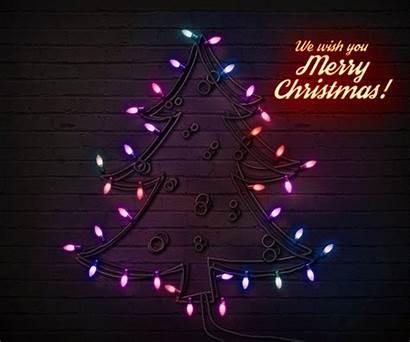 Christmas Lights Photoshop Animated Action Tree Psd