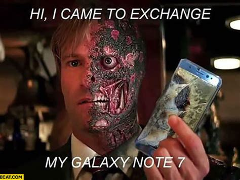 Two Face Meme - 21 most hilarious galaxy note 7 memes