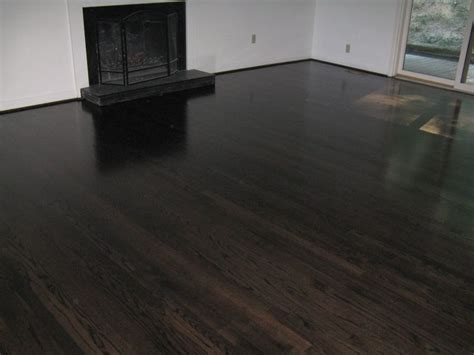 5 quot red oak stained black ebony throughout first floor 06