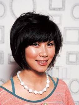 Asian Bob Haircut Iwth Long Bang Image