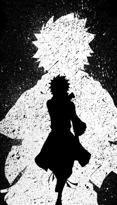 anime cool black  white wallpaper