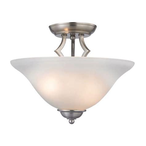 nickel semi flush ceiling lights titan lighting kingston 2 light brushed nickel ceiling