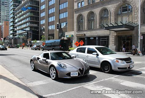 Alfa Romeo 4c Spotted In Toronto, Canada On 08/01/2015