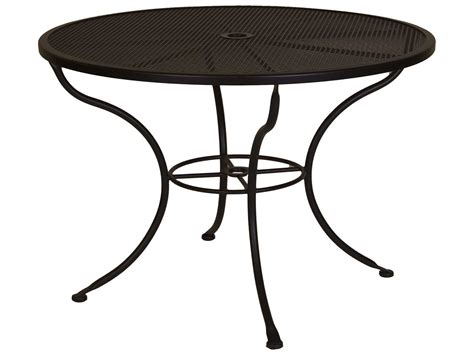 iron dining tables ow mesh wrought iron 42 dining table with 1929