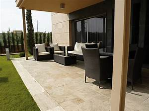 Moka Travertine Toscano Marble Contemporain Terrasse
