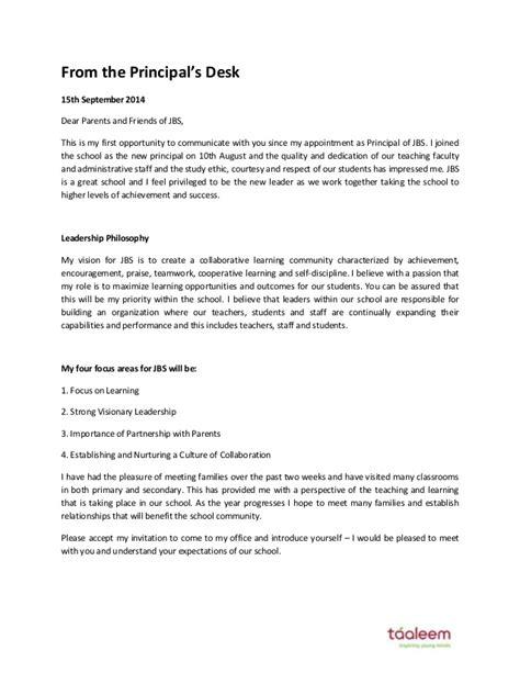 letter   principal september