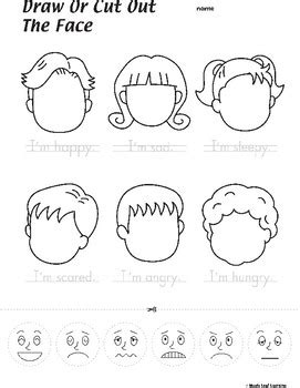 faces feelings worksheet by maple leaf learning tpt