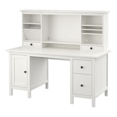 secretaire bureau ikea hemnes desk with add on unit white stain 155x137 cm ikea
