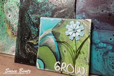 word   year paint poured mini canvas joysa