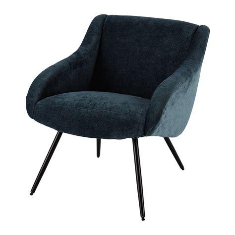 le de bureau vintage fauteuil vintage en tissu bleu joyce maisons du monde
