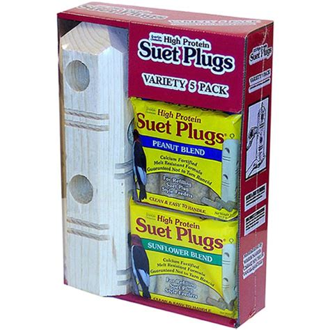 duncraft com suet plug variety pack with feeder