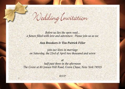 formal wedding invitation template    images