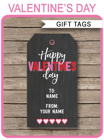 valentines day printable gift tags template chalkboard