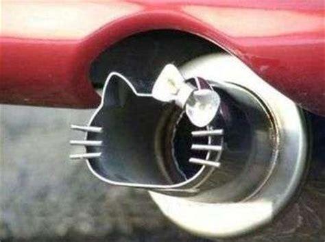 feminine feline auto parts  kitty car exhaust pipe