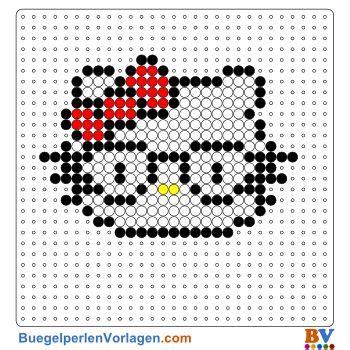 kitty mit brille buegelperlen vorlage schule