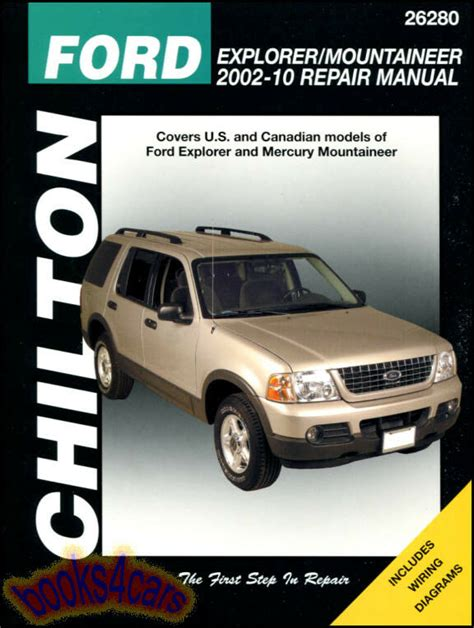 car owners manuals free downloads 1999 mercury mountaineer on board diagnostic system ford explorer mercury mountaineer shop manual chilton service repair ebay
