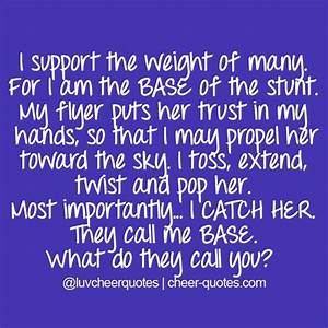 I support the weight of many. For I am the BASE of the ...