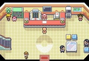 OC in a Pokemon Center Base