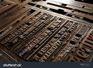 old vintage printing press letters stock photo 140369722 With old printing press letters