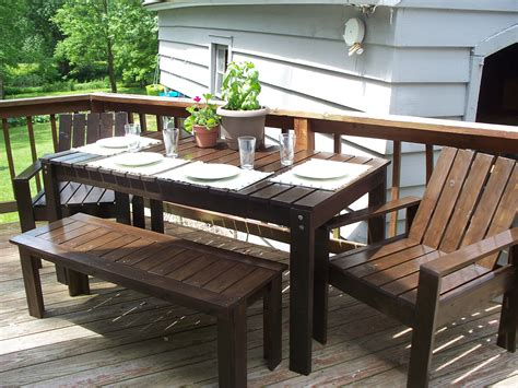 diy patio furniture white simple outdoor collection diy projects