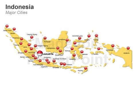 indonesia map  powerpoint editable vector