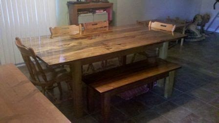 kitchen table   pallets poplar dining table