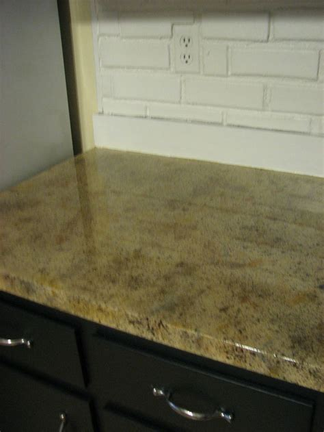 Faux Granite (painted) Counter Tops  ∙ Our House