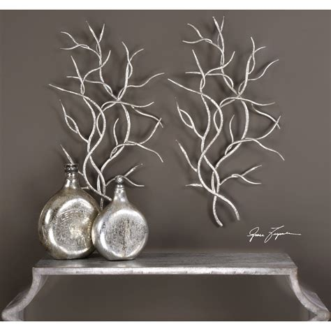 Wall coverings and doors designer duchâteau presents an exclusive line of wall coverings and doors by architect, builder and entrepreneur joe langenauer. Uttermost Alternative Wall Decor Silver Branches (Set of 2 ...